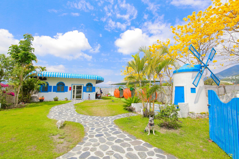 埔里寵物友善餐廳 可妮小屋~超美風鈴木地中海建築搭配埔里在地食材簡餐