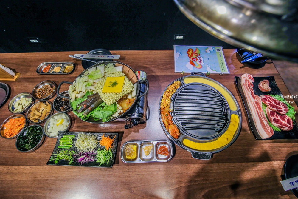 寵物友善餐廳│台北信義區│Woosan韓式烤肉店~桌邊烤肉服務網美造景