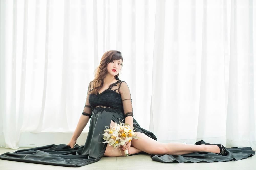 台北孕婦寫真推薦 金紗夢婚禮~韓風攝影師Jeffrey+自製花飾妝髮師Maggie