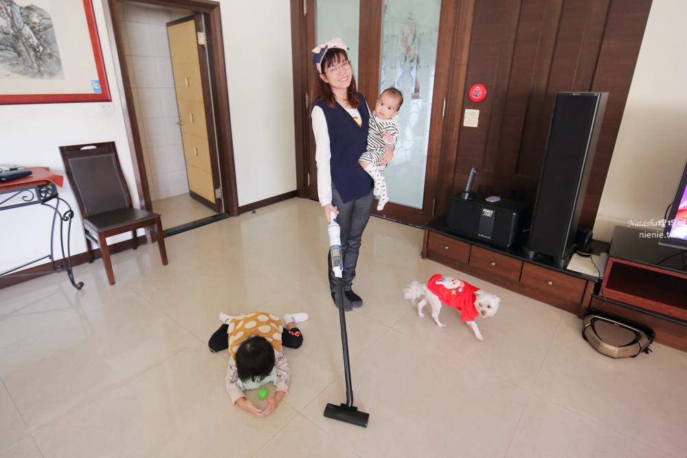 吸塵器推薦 大同無線手持吸塵器小藍~首創最輕吸塵器 單手抱小孩也能用