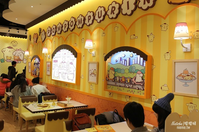 台北信義。捷運市府站美食│布丁狗餐廳POMPOMPURIN Cafe~台灣第一家布丁狗主題餐廳08