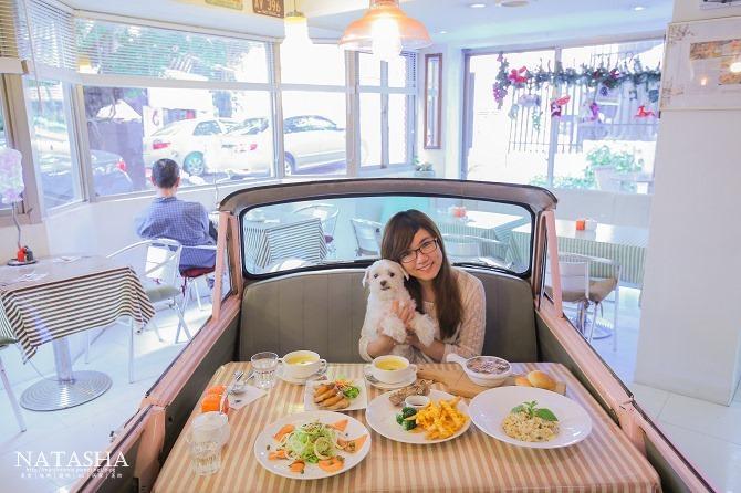 寵物友善餐廳│台北士林天母美食│PS BUBU汽車餐廳~坐在金龜車裡享用南加州義大利餐點(有提供寵物餐)39