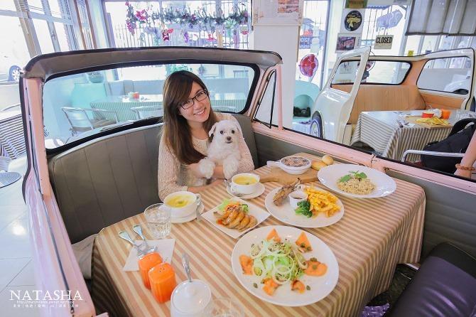 寵物友善餐廳│台北士林天母美食│PS BUBU汽車餐廳~坐在金龜車裡享用南加州義大利餐點(有提供寵物餐)41