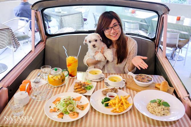 寵物友善餐廳│台北士林天母美食│PS BUBU汽車餐廳~坐在金龜車裡享用南加州義大利餐點(有提供寵物餐)46
