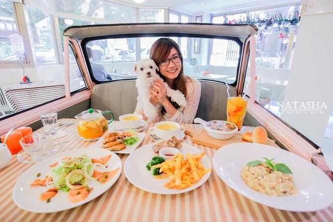 寵物友善餐廳│台北士林天母美食│PS BUBU汽車餐廳~坐在金龜車裡享用南加州義大利餐點(有提供寵物餐)51