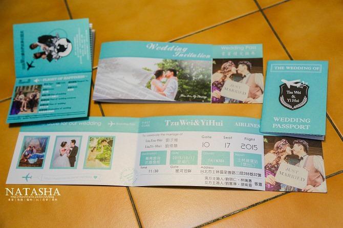 婚禮│喜帖製作│機票及護照喜帖製作分享。印象派創意設計協助設計獨一無二專屬喜帖06