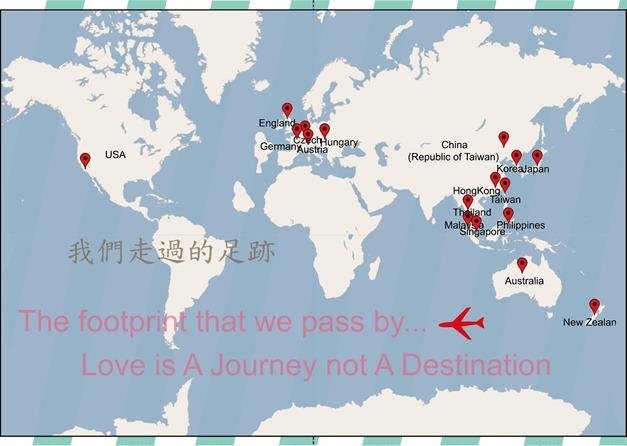 翻開的護照內頁第二面MAP(嵌入影像)