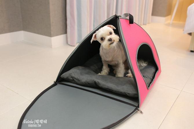 寵物外出包及寵物窩床推薦│ibiyaya~棉花糖寵物空氣包、寵物三角窩14