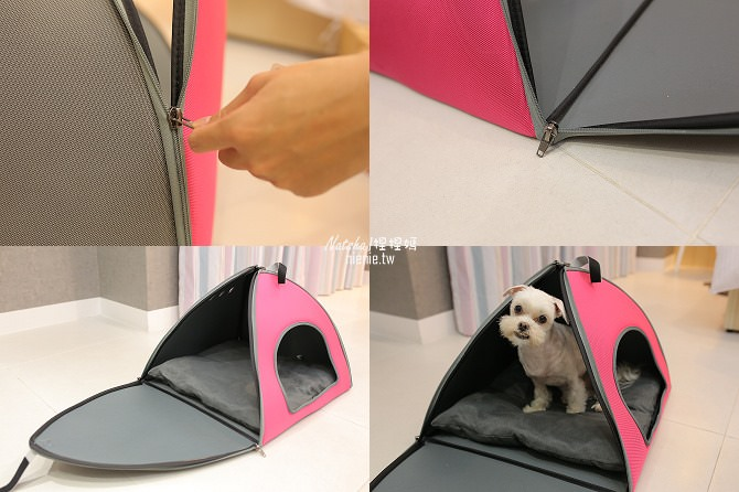 寵物外出包及寵物窩床推薦│ibiyaya~棉花糖寵物空氣包、寵物三角窩56