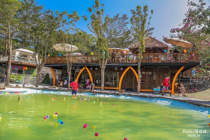 寵物餐廳│寵物游泳│台南關廟美食│森呼吸 Jorona Park~充滿彩色球的寵物專屬游泳池及露天咖啡廳04