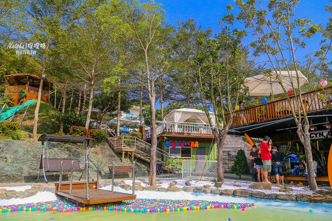 寵物餐廳│寵物游泳│台南關廟美食│森呼吸 Jorona Park~充滿彩色球的寵物專屬游泳池及露天咖啡廳15