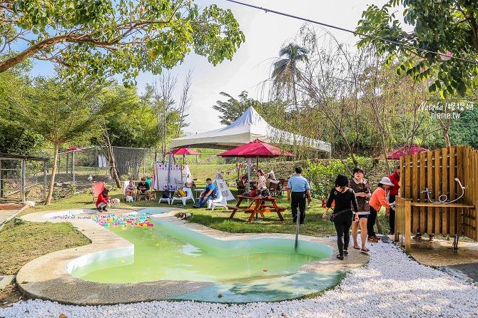 寵物餐廳│寵物游泳│台南關廟美食│森呼吸 Jorona Park~充滿彩色球的寵物專屬游泳池及露天咖啡廳50