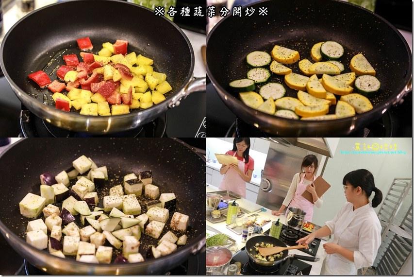 各種蔬菜分開炒